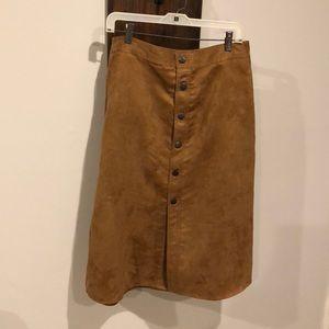 Camel Aline button up skirt. NBW